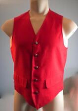 VTG Pendleton Vest Holiday Red Older tag SZ S-M Made in USA