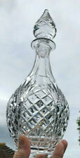 Ovoid Deep Cut Crystal Decanter with Spire Faceted Stopper