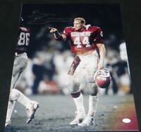 BRIAN BOSWORTH SIGNED AUTOGRAPHED OKLAHOMA SOONERS 16x20 PHOTO JSA