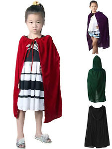 New Hooded Velvet Cloak Gothic Wicca Robe Medieval Witchcraft Larp Cape