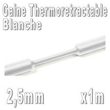 Gaine Thermo Rétractable 2:1 - Diam. 2,5 mm - Blanc - 1m