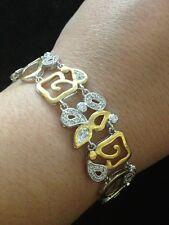 2 Tone Sterling Silver & Cz's Bracelet