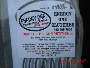 Energy One Harley Davidson Twin Cam High Performance Clutch