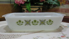 """Vintage Anchor Hocking """"Fire King"""" Meadow Green 1 Qt Loaf Baking Pan"""