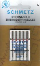 5 Schmetz - Maschinen-Sticknadeln 130-705 H-E Stärke 90/14 Embroidery Needle