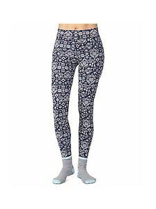 Designer Cuddl Duds Women's 2-Pc Super-Soft Printed Legging & Sock Set X-S 2-4