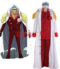 ONE PIECE Anime Akainu Uniform Coat Hut Cosplay Costume Kostüme set Custom Neu