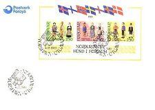 Danimarca-Faeroer Michel numero blocco 1 UFFICIALE FDC