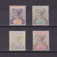 SEYCHELLES 1893, SG# 22-25, CV £35, MH/NG