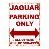 Jaguar Metal Garage sign man cave Jag e type Vintage tin sign plaque retro Wall