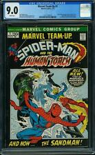 Marvel Team-Up #1 CGC 9.0 1972 Spider-Man! Human Torch! White Pages! F11 118 cm