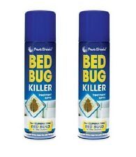 Pestshield Bed Bug Flea Killer Treatment Pest Spray Aerosol Carpet Mattress 2 Cans Ps0075