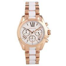 Michael Kors Uhr MK5907 MINI BRADSHAW Damen Chronograph Edelstahl Rosegold Weiß