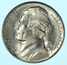 Brilliant Uncirculated 1943-D Jefferson War Nickel BU 35% Silver Coin Lot