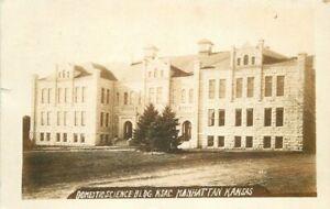Domestic Science Building Manhattan Kansas 1913 RPPC Photo Postcard 9208