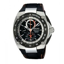 Seiko Sportura SPC047 P2 Black Men's Chronograph Perpetual Calendar Quartz Watch