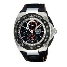 Seiko Sportura SPC047 P2 Black Men's Chronograph Perpetual Calendar Quartz Watch