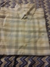 Lacoste Checkered Plaid Size 43 (L-XL) Mens S/S  Button Front Shirt