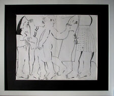 HORST ANTES Geburtsanzeige Salomea HAND-SIGNIERT limit. nummer 39x48cm + Rahmen