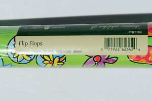 American Greetings The Finishing Touch SEALED Gift Wrap Roll Flip Flops VTG D-4