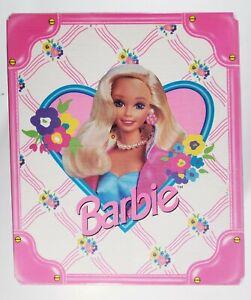 1996 Mattel: BARBIE Pink & White Vinyl Travel Carrying Case Trunk - Vintage VTG