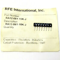 20x RFE: 10K OHM 5% SIP-8 RESISTOR Network Array RA12-08Y-10K-J Isolated NEW NOS