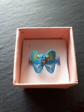 Brand new childs blue butterfly ring size K! Childrens kids costume jewellery!