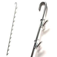 Metal Merchandising Strip Hanging Clip for 12 items - Zinc - 10 Pieces
