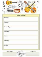 Acoustic Guitar Weekly Planner - Music Stationery - Gift for Music Lover