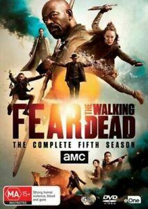 FEAR THE WALKING DEAD COMPLETE FIFTH SEASON 5 DVD Region 4 BRAND NEW & Sealed!