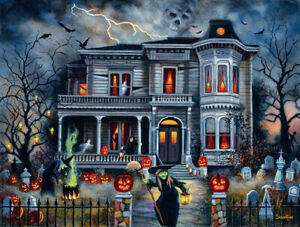 Jigsaw puzzle Seasonal Halloween Witching Hour 1000 piece NEW Made in USA