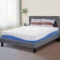 SLEEPLACE 10 Inch I GEL Memory Foam Mattress , Bed, Blue / Grey