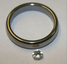Natural Clear White Sapphire Gemstone 4mm round 0.3ct faceted loose gem saf03C
