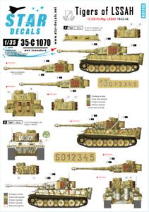 Star Decals 1/35 Tigers of the LSSAH - 13./SS-Pz-Regiment LSSAH decal 35C1070 x