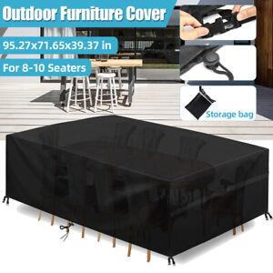600D Waterproof Outdoor Furniture Cover Garden Patio Rain Table Protector Sofa