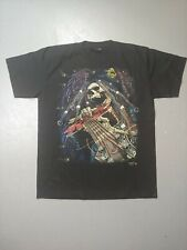 Rock Chang Double-sided T-shirt Rock And Roll Skull Skeleton Size Large Guitar