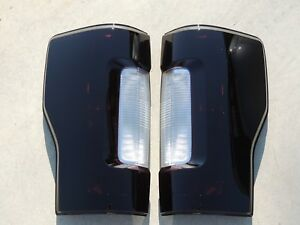 17-19 F250 Smoked Tail Lights OEM NON-BLIS Non-Led Tinted Custom Made! Black
