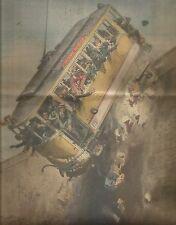 K0778 Tranvai carico di passeggeri precipita a Rouen - Stampa antica
