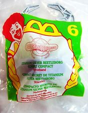 1996 Vintage McDonalds Happy Meal BeetleBorgs Covert Compact Wristband 2 MIP C10