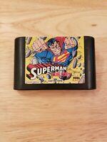 Sega Genesis - Superman (GOOD, Tested & Guaranteed) - Marvel Super Hero Game