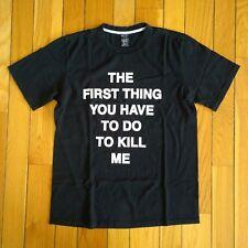 NUMBER (N)ine Nine Japan Takahiro Miyashita Mens 'Kill Me' T Shirt Tee 4 M Black
