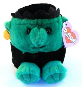Stitch Frankenstein RETIRED Puffkins Bean Bag Plush 1999 Swibco with Hang Tag