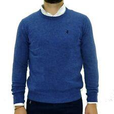 Maglione uomo Marlboro Classics in lana girocollo maglia pullover 4762 azzurro