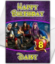 DESCENDANTS 2 Personalised Birthday Card - Disney Descendants Christmas Card