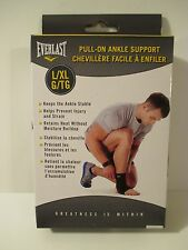 EVERLAST Pull On Ankle Support Brace L/XL Black