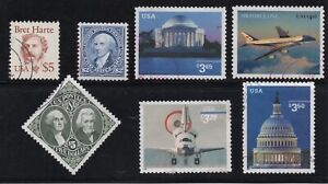 Small Lot of High U.S. Postage Values (7)