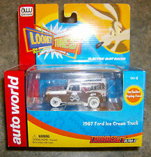 """""""NEW"""" LOONEY TUNES IWHEELS WILE E COYOTE 1967 FORD ICE CREAM TRUCK HO TJET 500"""
