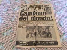 Gazzetta dello sport 1982 Italia campione del mondo