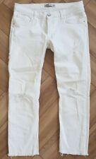 ZARA white Denim Distressed Skinny Jeans Eu38 Usa 6