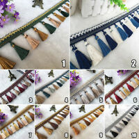 Tassel Fringe Trim Curtain Sewing Trimming Ribbon Home Sofa Upholstery Decor 1M